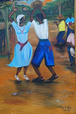 Haitian Painting - Congo Dance by Nicole Jean-Louis