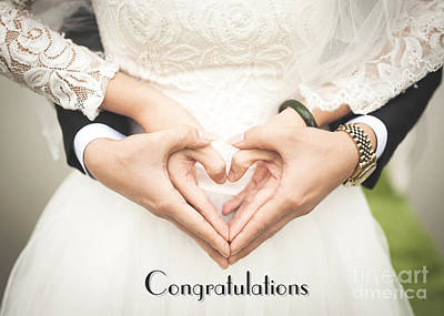 Digital Art - Congrats Hearts In Hands by JH Designs