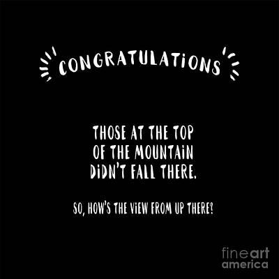 Congratulations, Well Done Art Print