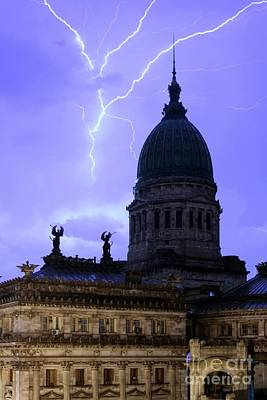 Photograph - Congreso Lightning 3 by Balanced Art