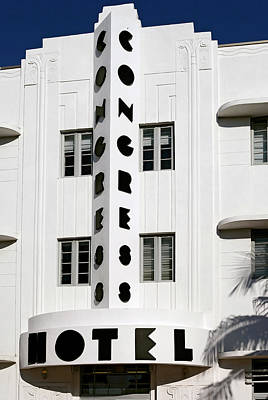Congress Hotel. Miami. Fl. Usa Art Print