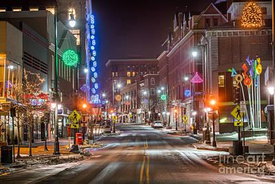 Photograph - Congress Street Portland Maine by Benjamin Williamson