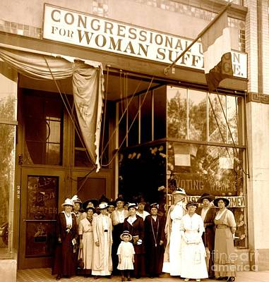 Photograph - Congressional Union For Woman Suffrage Colorado Headquarters 1914 by Peter Gumaer Ogden Collection