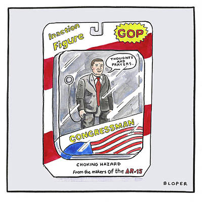 Drawing - Congressman Inaction Figure by Brendan Loper