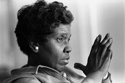 Congresswoman Barbara Jordan. In 1966 Art Print