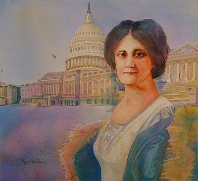 Us Capital Painting - Congresswoman Langley by Mary Lou Hall