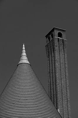 Photograph - Conical Roof And Chimney by Steve Gravano