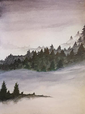 Mixed Media - Coniferous Forest by Stephanie Hollingsworth