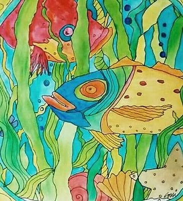 Painting - Coni's Island Fish by Coni Brown