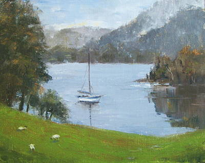 Coniston Water Art Print by Elaine Monnig