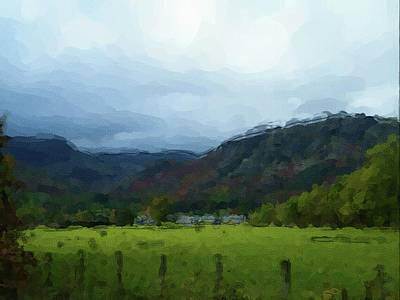 Digital Art - Coniston Watercolour Sketch by John Lowe