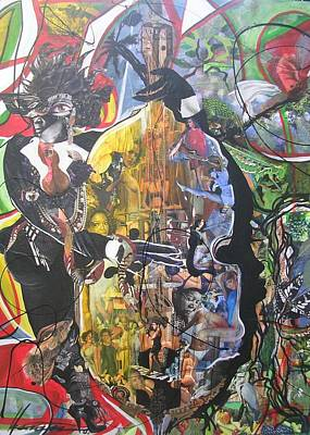 Wall Art - Mixed Media - Conjure Bass Le Femme by Hasaan Kirkland