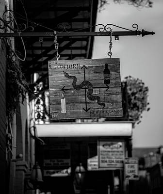 Conjure New Orleans In Black And White Art Print