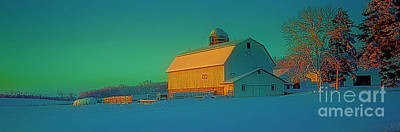 Conley Rd White Barn Art Print by Tom Jelen