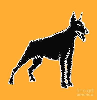 Doberman Pinscher Pop Art Digital Art - Connect Dobie The Dots by I Am Lalanny