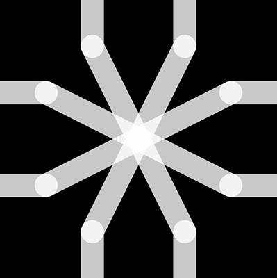 Drawing - Connect Tile - Asterisk by REVAD David Riley