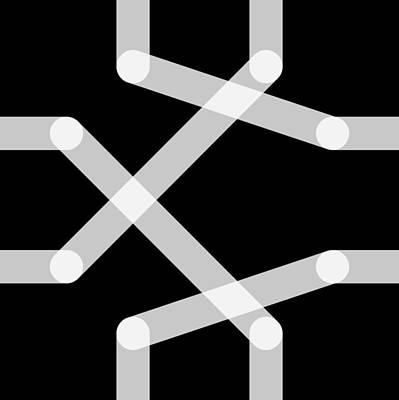 Drawing - Connect - Delta by REVAD David Riley