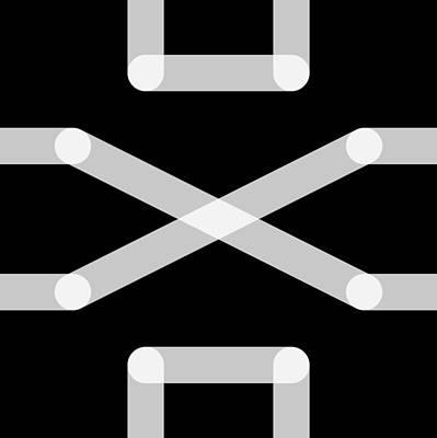 Digital Art - Connect Tile -november- by Coded Images