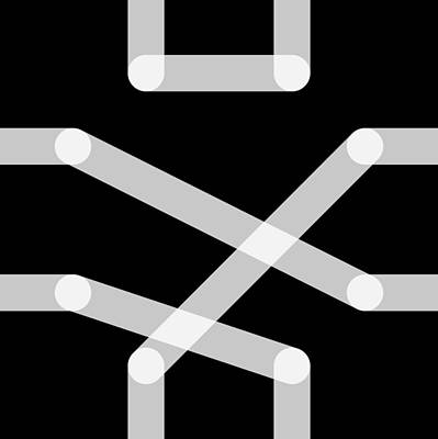 Digital Art - Connect Tile -quebec- by Coded Images