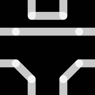 Digital Art - Connect Tile -uniform- by Coded Images