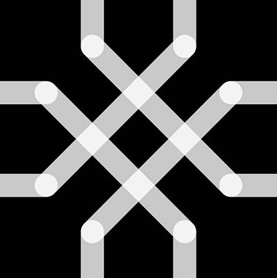 Drawing - Connect Tile - Xray by REVAD David Riley