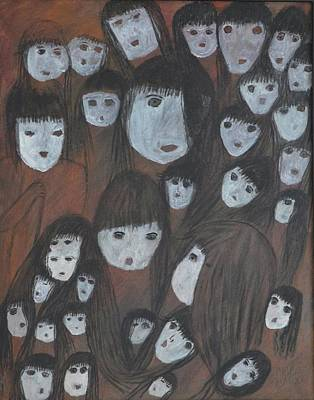 Maria Iliou Painting - Connected Spiritual by Maria Iliou