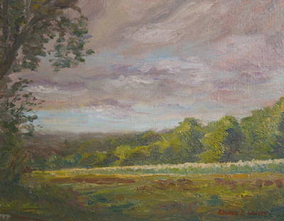 Painting - Connecticut Cornfield by Edward White