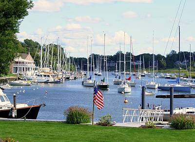 Photograph - Connecticut Harbor Town by Margie Avellino