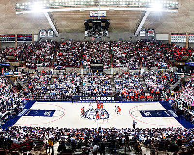 Connecticut Huskies Harry A. Gampel Pavilion Print by Replay Photos