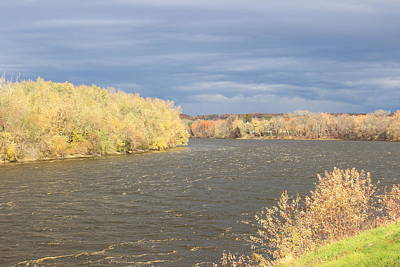Photograph - Connecticut River Autumn Storm by John Burk