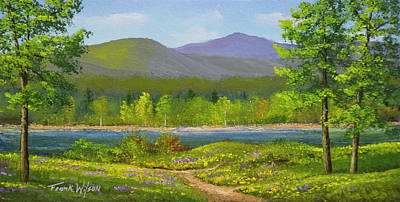 Vermont Wilderness Painting - Connecticut River Spring by Frank Wilson