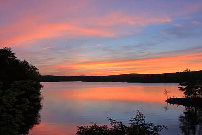 Photograph - Connecticut River Sunset At Barton Cove by John Burk