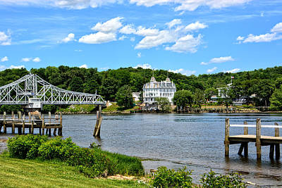 Photograph - Connecticut River - Swing Bridge - Goodspeed Opera House by Mike Martin