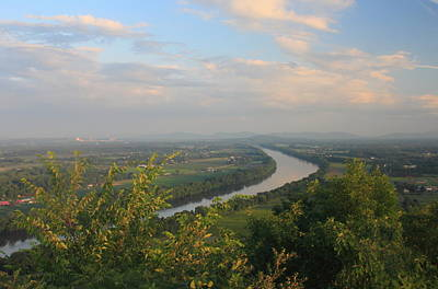 Photograph - Connecticut River Valley In Summer From Mount Sugarloaf by John Burk
