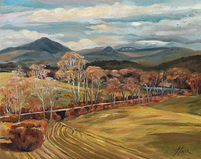 Painting - Connecticut River Valley View From Newbury Vermont by Nancy Griswold