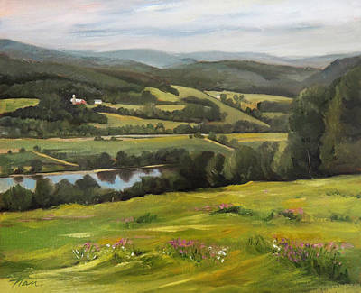 Painting - Connecticut River Valley View by Nancy Griswold