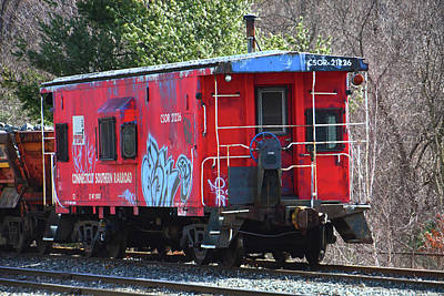 Photograph - Connecticut Southern Railroad Caboose by Mike Martin