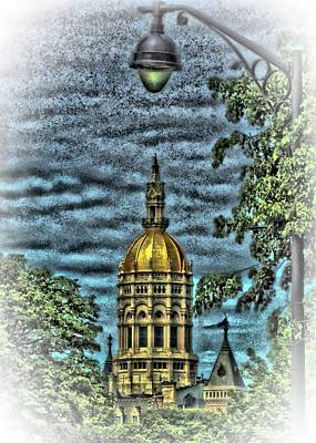 Digital Art - Connecticut State Capitol by Vince Green