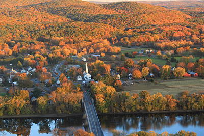 Photograph - Connecticut Valley Hills And Sunderland Fall Foliage by John Burk