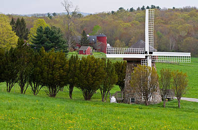 Photograph - Connecticut Windmill. by David Freuthal