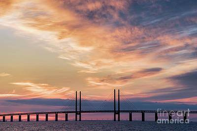 Photograph - Connecting Sweden And Denmark - Bridge by Vyacheslav Isaev