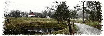 Connemara Digital Art - Connemara Farms West Approach Sketch by Gary Conner
