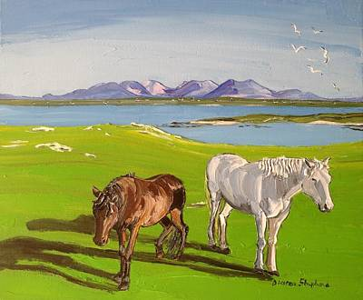 Painting - connemara Ponies Mannin Co Galway by Diana Shephard