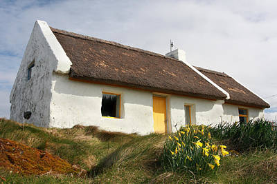 Photograph - Connemara Thatch Roof Cottage by Pierre Leclerc Photography