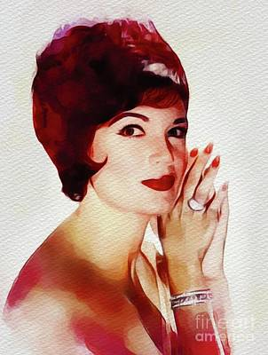 Music Paintings - Connie Francis, Music Legend by Esoterica Art Agency