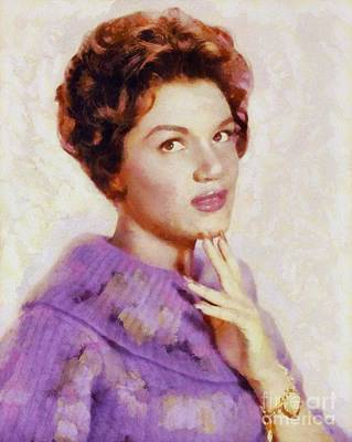 Music Paintings - Connie Francis, Vintage Singer by Esoterica Art Agency