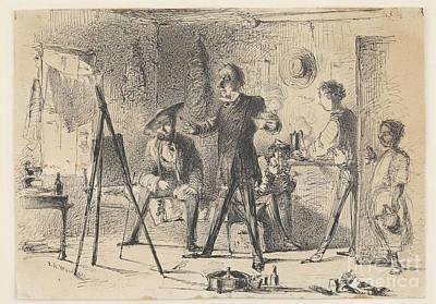 Whistler Painting - Connoisseurs In A Studio by Celestial Images