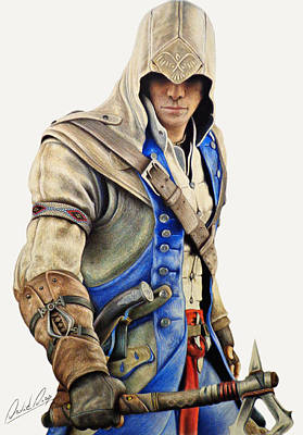 Drawing - Connor Kenway - Assassin's Creed 3 by David Dias