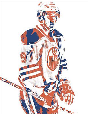 Mixed Media - Connor Mcdavid Edmonton Oilers Pixel Art 2 by Joe Hamilton
