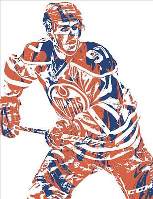Mixed Media - Connor Mcdavid Edmonton Oilers Pixel Art 3 by Joe Hamilton